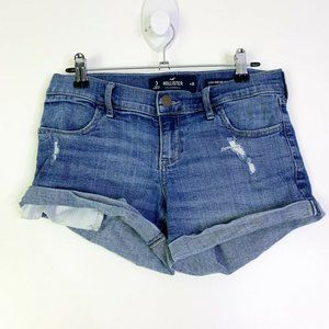 Hollister Womens Low Rise Rolled Up Short Junior 3